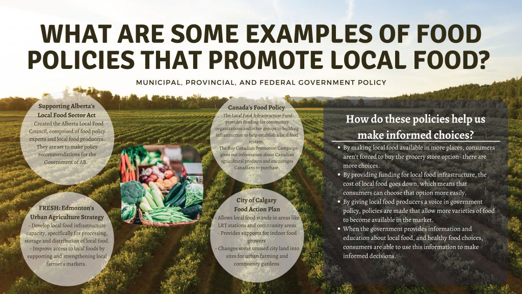 Local Food Policies – A Project Exemplar