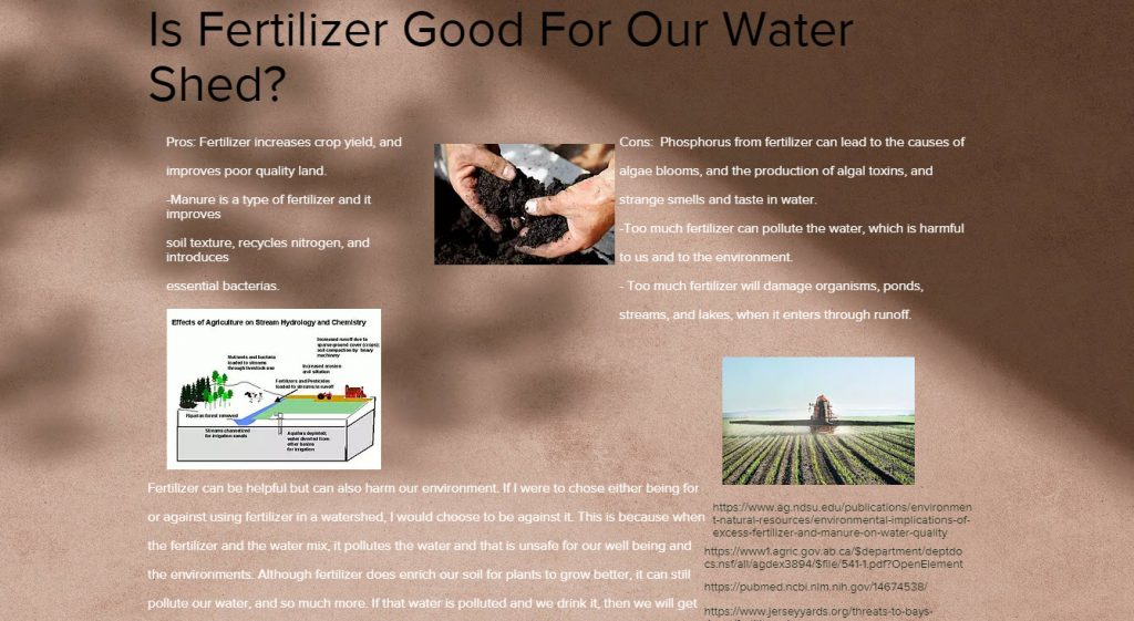 Farm Practices and Fertilizer Pollution